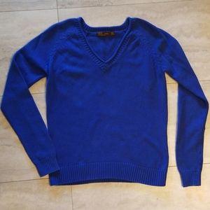 ZARA v-neck royal blue sweater